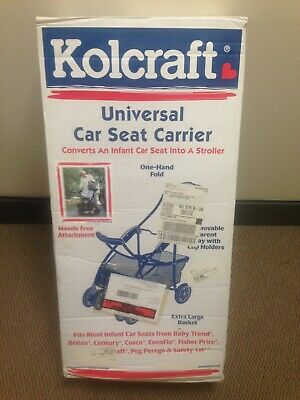 NIB Kolcraft Universal Car Seat Carrier Stroller with One Hand Fold