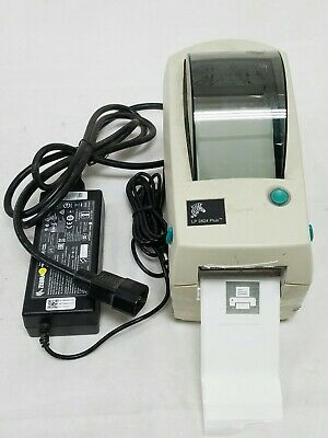 Zebra LP 2824 Plus Thermal Label Printer Used Includes Partial Label Roll