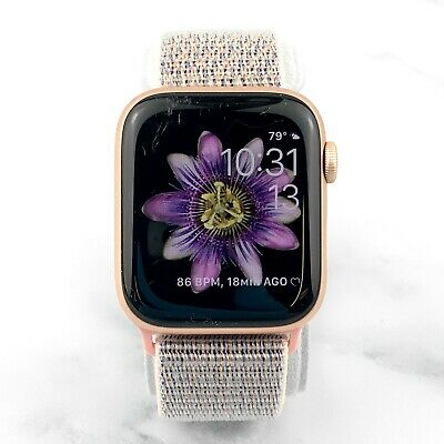 Apple Watch Series 4 44 mm Gold Aluminum with Pink Sand Nylon Loop (GPS) 7/10