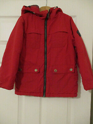 Boys NEXT bright red hooded anorak / jacket aged 5 years