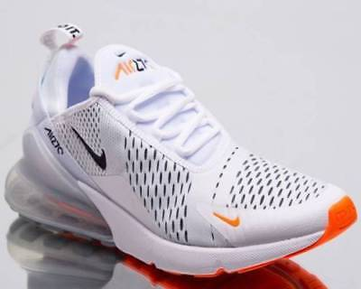 New AUTHENTIC NIKE Air Max 270 White Black Total Orange JDI AH8050-106 men size