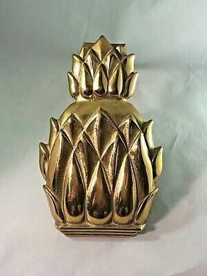Vintage Metalcrafters Pineapple Brass Door Knocker Colonial Williamsburg CW Hosp
