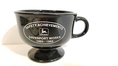 Vintage Large John Deere Safety Achievements Coffee Mug Davenport