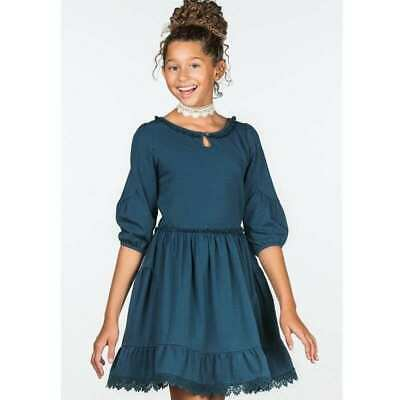 jm NWT Matilda Jane 435 Make Believe Out of the Blue Navy Knit Peasant Dress 8