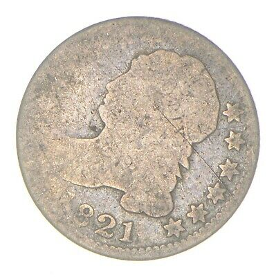 EARLY - 1821 - Capped Bust Dime - Eagle Reverse - TOUGH - US Type Coin *326
