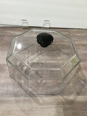 Arcoroc Octime Octagonal Black 12 inch  Clear Glass Dome Lid ONLY