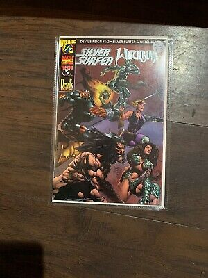 DEVIL'S REIGN #1/2 - SILVER SURFER & WITCHBLADE - WIZARD MARVEL TOP COW with COA