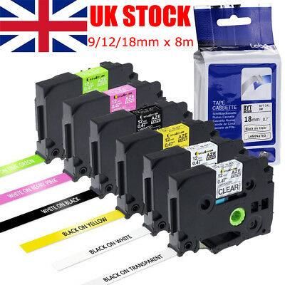 1-5x Compatible Label Tape TZe TZe-231 for Brother P-touch Printer 18mm/12mm/9mm