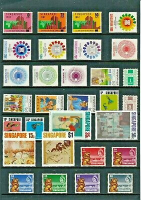SINGAPORE Stamp COLLECTION  QEII 1967-83 All UNMOUNTED MINT Ref:R1