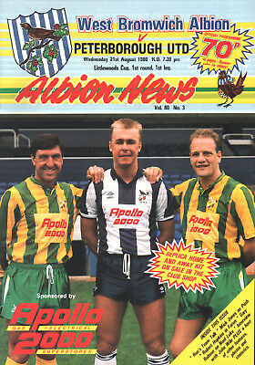 1988/89 West Bromwich Albion v Peterborough United, League Cup, PERFECT
