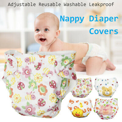 Reusable Baby Pocket Cloth Diaper Washable Cover Adjustable Infant Kid Nappy