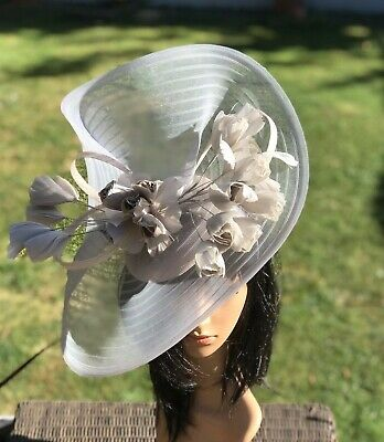 Peter Bettley Silver Grey Wedding Hatinator Hat Mother Of The Bride Formal
