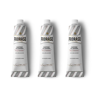 CLEARANCE Triple Selection Pack - PRORASO shaving cream blue/red/white150ml tube