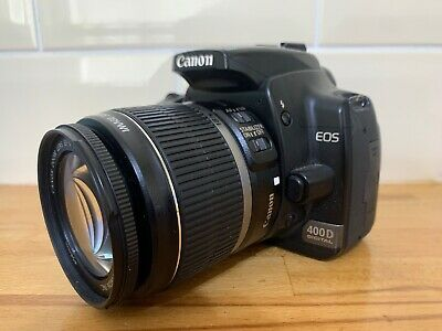 W409 Canon EOS 400D  Digital SLR Camera with EF-S 18-55mm IS Zoom Lens