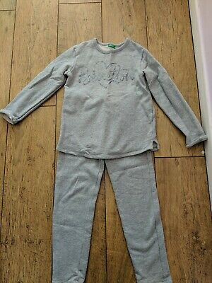 Girls Grey United Colours Of Benetton Tracksuit Age  7-8