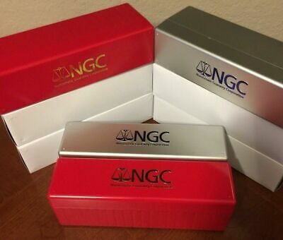 (6) BOXES ~ (3) RED/GOLD & (3) SILVER New NGC Storage Box Holds 20 NGC Slabs