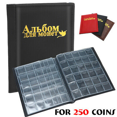250 Coin Holder Collection Storage Collecting Money Penny Pockets Album