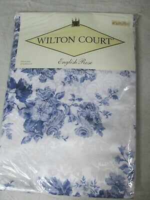 """Wilton Court """"ENGLISH ROSE"""" table cloth 60"""" x 101"""" Oblong NEW cotton/polyester"""