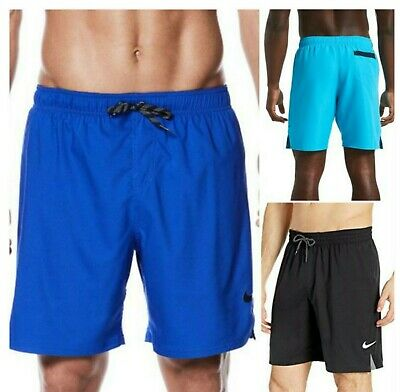 """NWT NIKE Men's Solid Vital 7"""" Volley Shorts Swim Trunks SELECT SIZE & COLOR"""