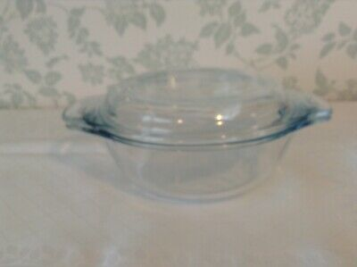 Pyrex Clear Glass Small Casserole / Serving Dish with Lid