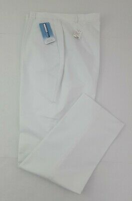 Lands End CoolMax Pants Women's White Size 18T  Pockets NWT Discontinued