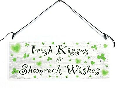 Patrick/'s Day Irish Kisses /& Shamrock Wishes Wooden Sign 6 Color Combos! St