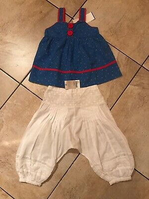 Bnwt Next Girls Blouse Top & Trousers Age 3 Years