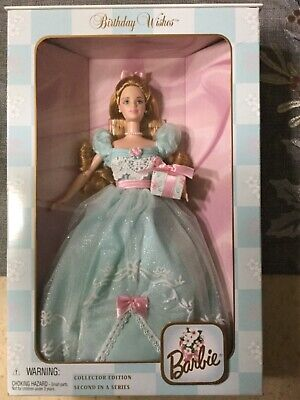 """Beautiful NRFB """"BIRTHDAY WISHES BARBIE"""" 1999 Collector Edition 2nd in Series"""
