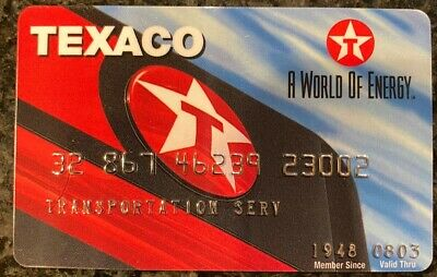 Vintage Transportation Service Texaco Gas Credit Card 23002