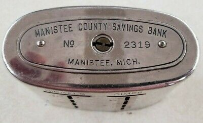 Vintage TRAVELING TELLER  BANK Manistee County Savings Bank Michigan - No Key