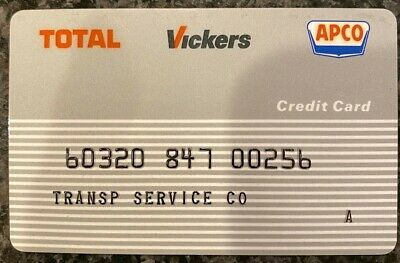 Vintage Transportation Service Total Vickers APCO Gas Credit Card 00256