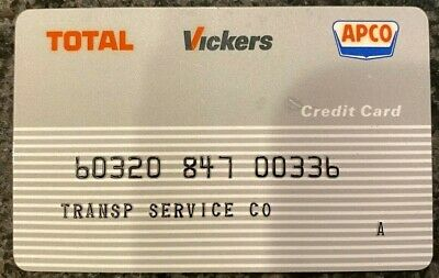 Vintage Transportation Service Total Vickers APCO Gas Credit Card 00336