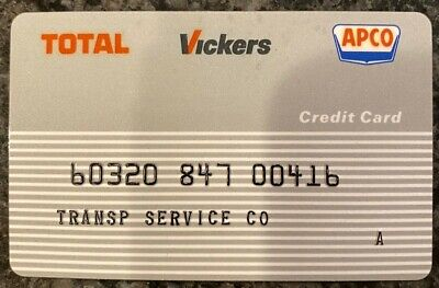 Vintage Transportation Service Total Vickers APCO Gas Credit Card 00416