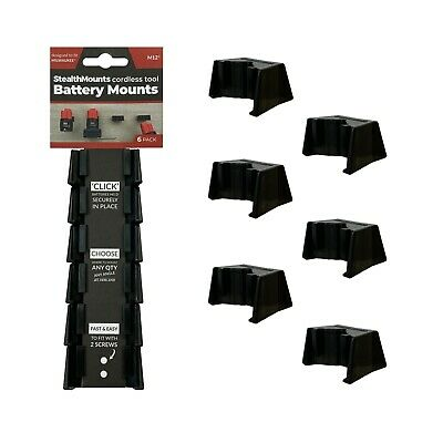 5x BATTERY MOUNTS for MILWAUKEE M12 High Capacity 12v Stealth Storage Holders