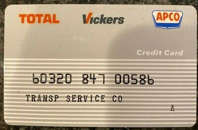 Vintage Transportation Service Total Vickers APCO Gas Credit Card 00586