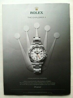 Rolex Explorer Ii Oyster Chronometer Original Advertising Watch Ad