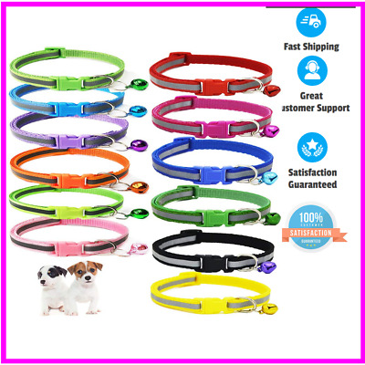 GAMUDA Puppy Collars - Super Soft Nylon Adjustable - Assorted Colors  -Set of 12