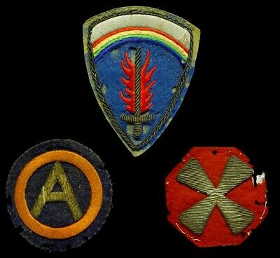 WWII US Army Bullion Military Patch Patches Lot  USAREUR Third & Eighth Insignia