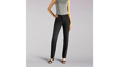 NWT LEE Womens Flex Motion Regular Fit BLACK DRESS Trouser Pants SIZE 20W