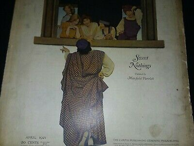 NH-044 Ladies Home Journal Magazine April 1921 Maxfield Parrish Cover