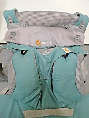 Ergobaby Four-Position 360 Cool Air Baby Carrier, Icy Mint