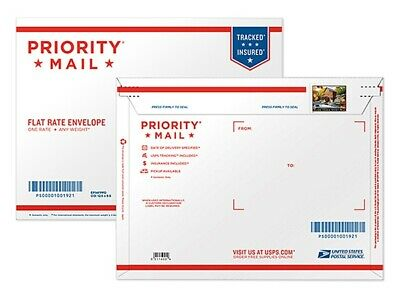 USPS Priority Mail STAMP for USPS Flat Rate Envelope (Fast Shipping) $7.75