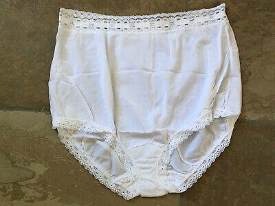 Olga Size Medium White Secret Hug Scoop Full Brief Panties #873  NWOT Vintage