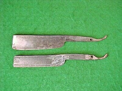 Lot Of 2 Vintage Straight Razor Blades - Wade & Butcher Sheffield