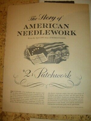 Vintage 1961 The Story of American Needlework Vol 2: Patchwork