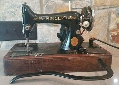 1925 Singer Model 99-13 Bentwood Case Mailbox Sewing Machine and Accessories