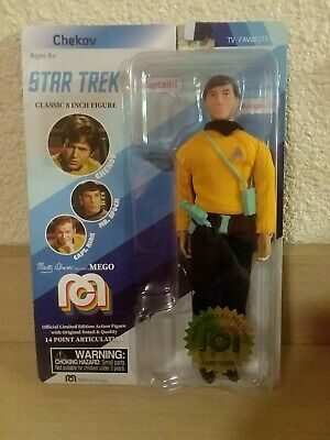 Mego limited edition Star Trek Chekov classic 8-inch action figure, MOC