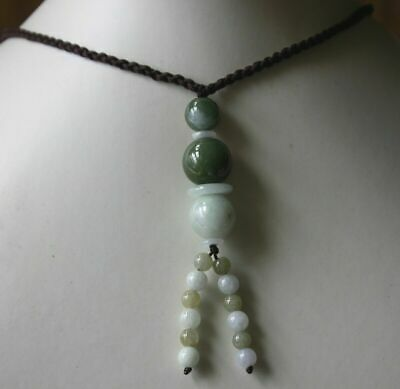 Genuine 100% Natural Grade A Multi-Color Jadeite JADE Handmade Beaded Necklace