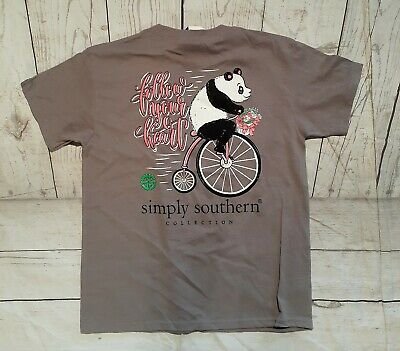 "NWT  Simply Southern ""follow your heart"" Youth Sz. Medium Short Sleeve T-Shirt"