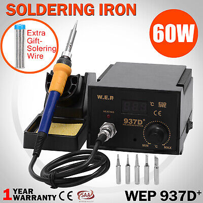 WEP 60W Electric Soldering Iron 200-480℃ Digital Solder Station ESD Welding Kit